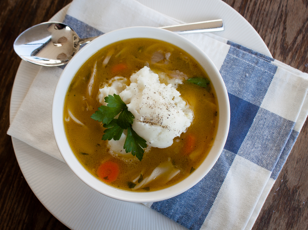Chicken Soup with Mashed Potatoes 5