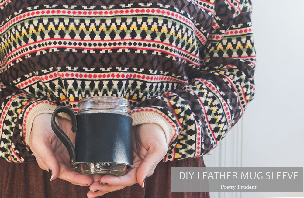 DIY Leather Mug Sleeve