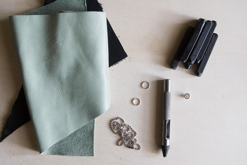 DIY Leather Heart Keychains