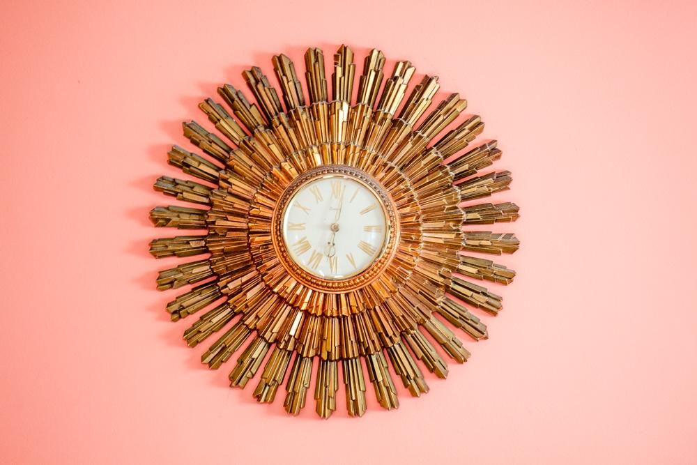 Scarlet's Vintage Starburst Clock