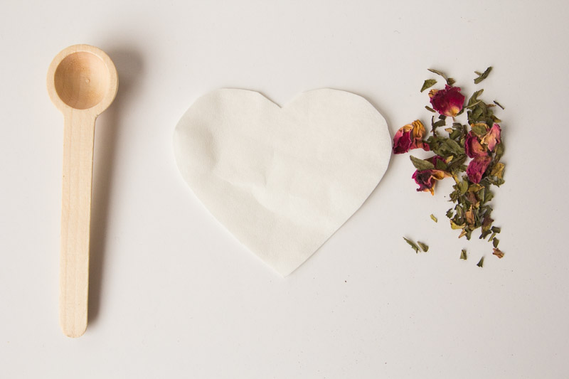DIY Heart-Shaped Tea Bags