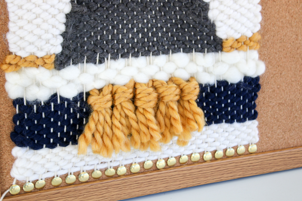 How to Weave on a Cork Board