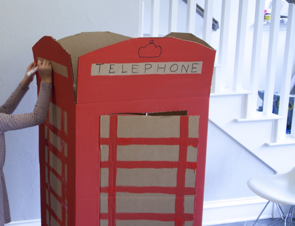 Cardboard box phonebooth
