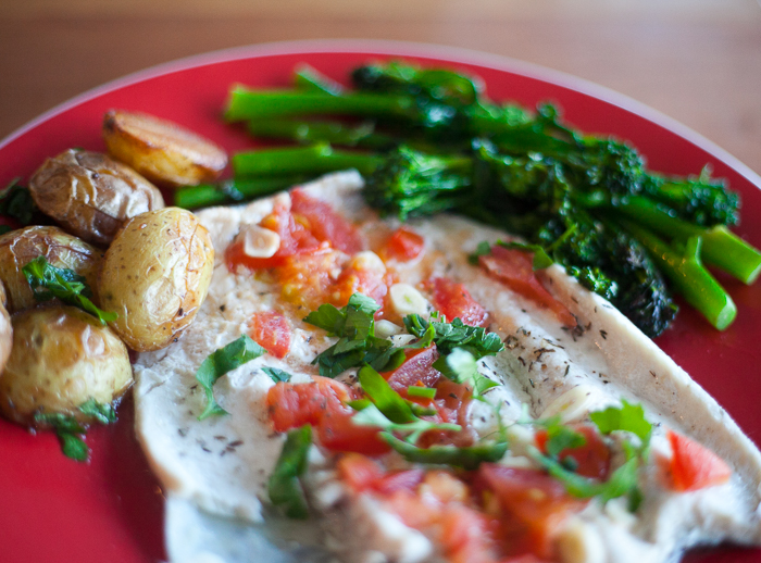 New York Times Rainbow trout in foil