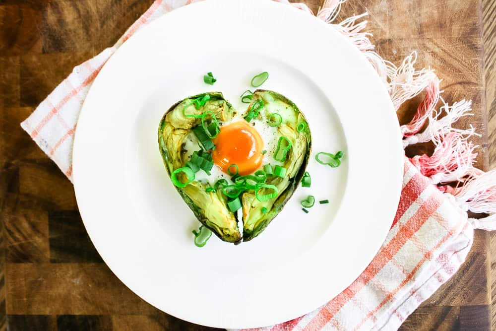 Baked Avocado Heart Recipe