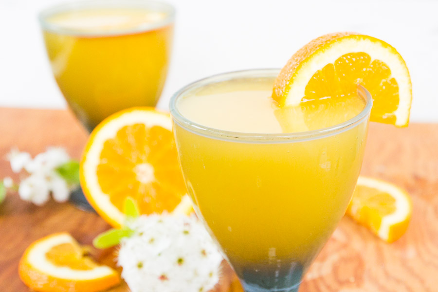 Hard Apple Cider Mimosa