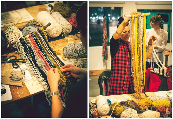 DIY Yarn Tapestry and our Pretty Prudent and Reykjavik Outpost Workshop