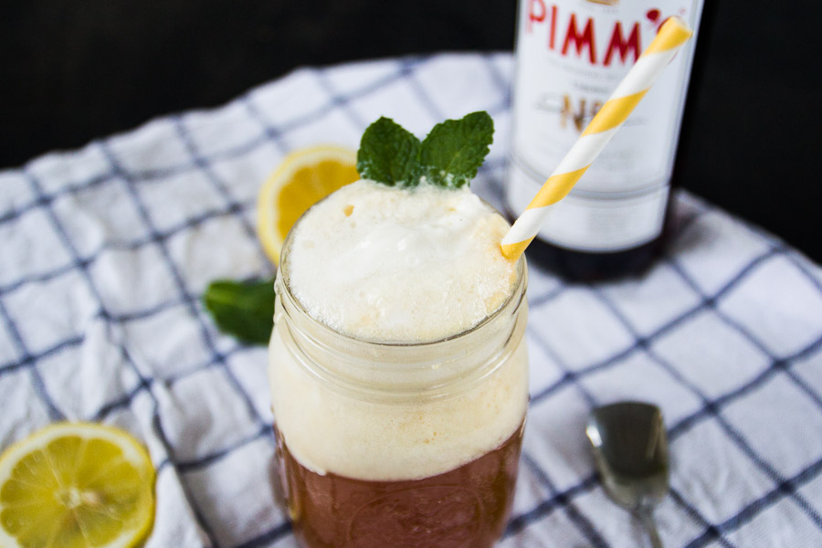 Pimm's Cup Ice Cream Float