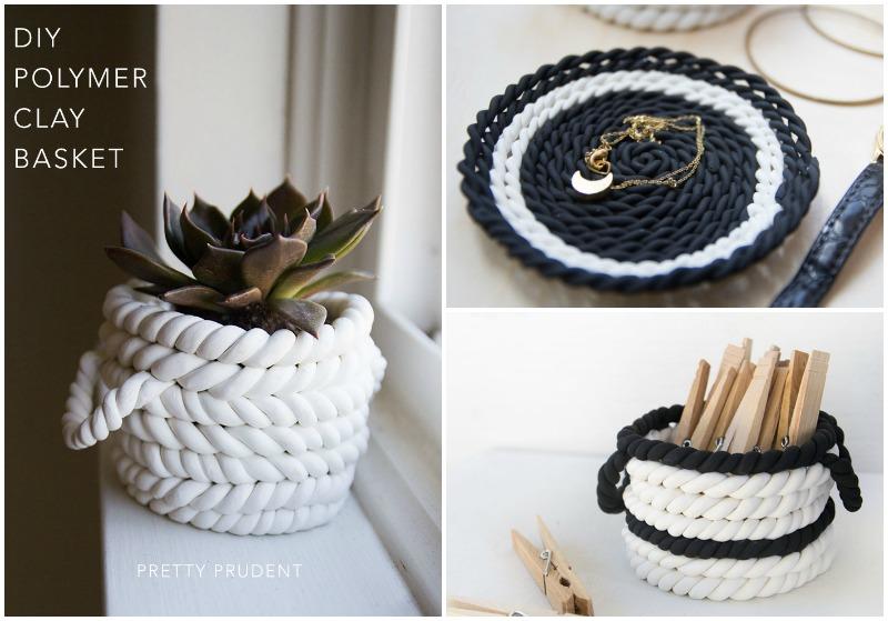 DIY Polymer Clay Basket
