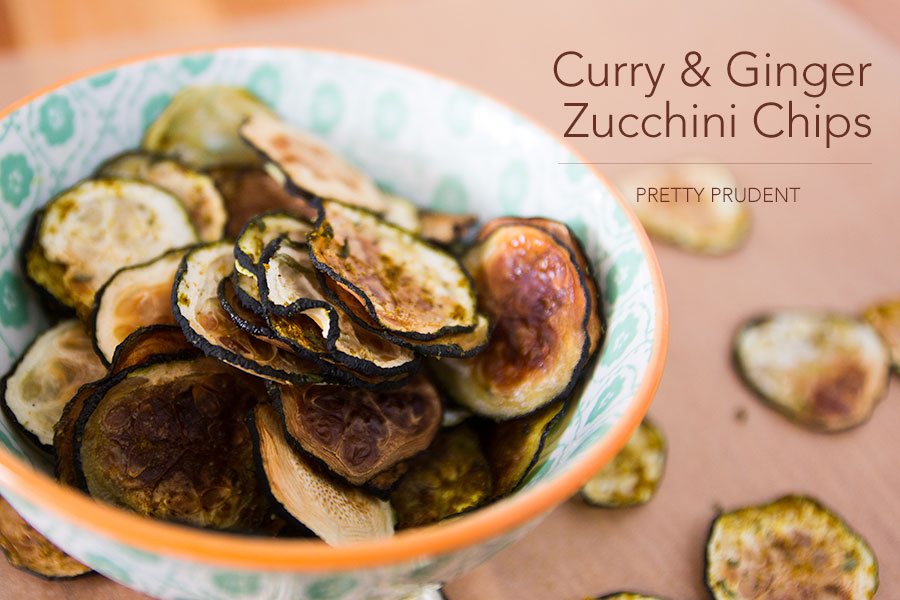 Curry & Ginger Zucchini Chips