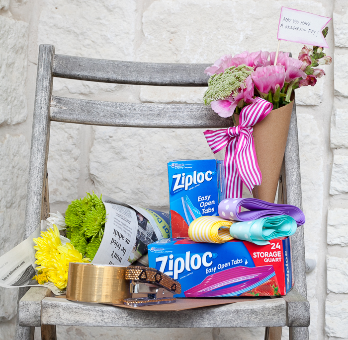 ZIploc craft may day bouquet