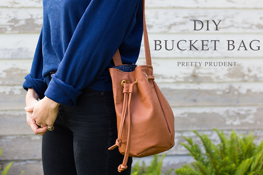 DIY Faux Leather Bucket Bag