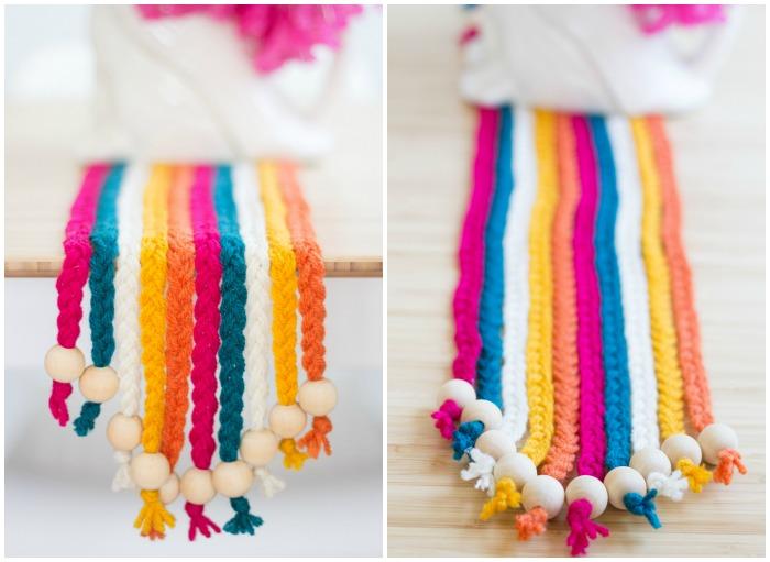 DIY Braided Yarn Table Runner on Pretty Prudent _2