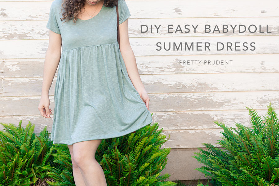 DIY Easy Babydoll Summer Dress (with Pattern)