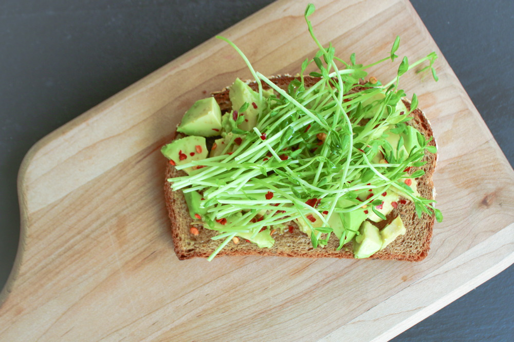 Toast Tuesday | Avocado, Red Pepper & Pea Shoot