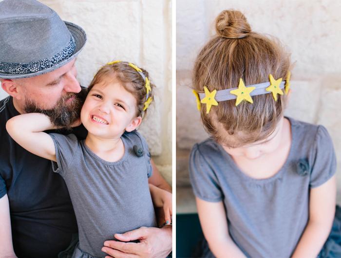 felt star headband