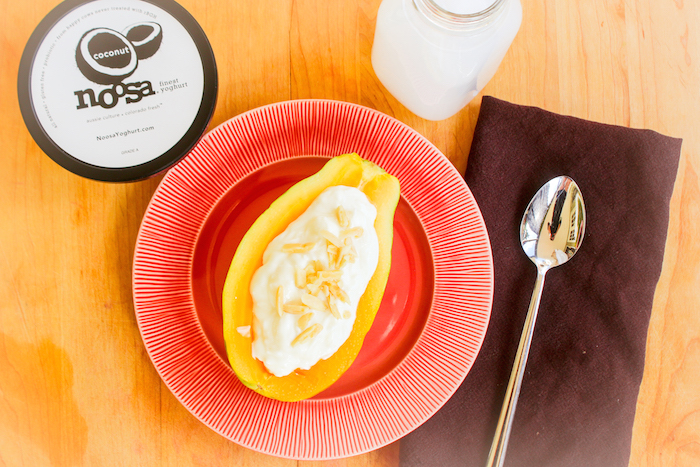 Papaya Yogurt Breakfast Boats