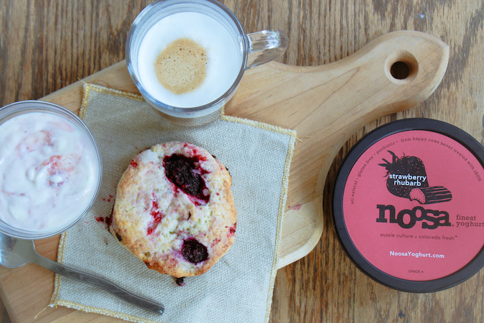 Mixed Berry Scone Recipe with noosa yoghurt