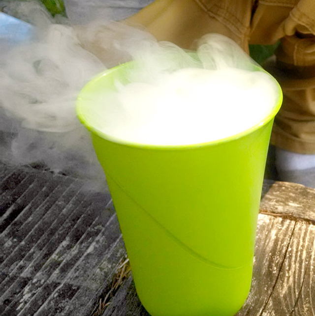 dry-ice-STEM science Halloween experiments