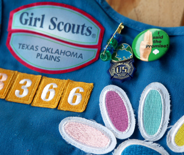 The Best Way to Easily Attach Badges for Girl Scouts | Pretty Prudent