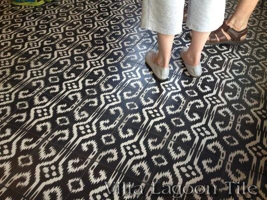 Ikat Encaustic Tile