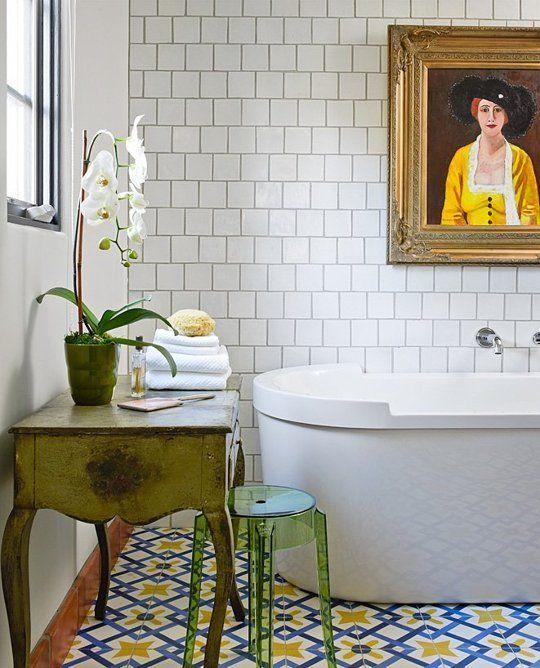 Bathroom Remodel Fantasies Encaustic Tile
