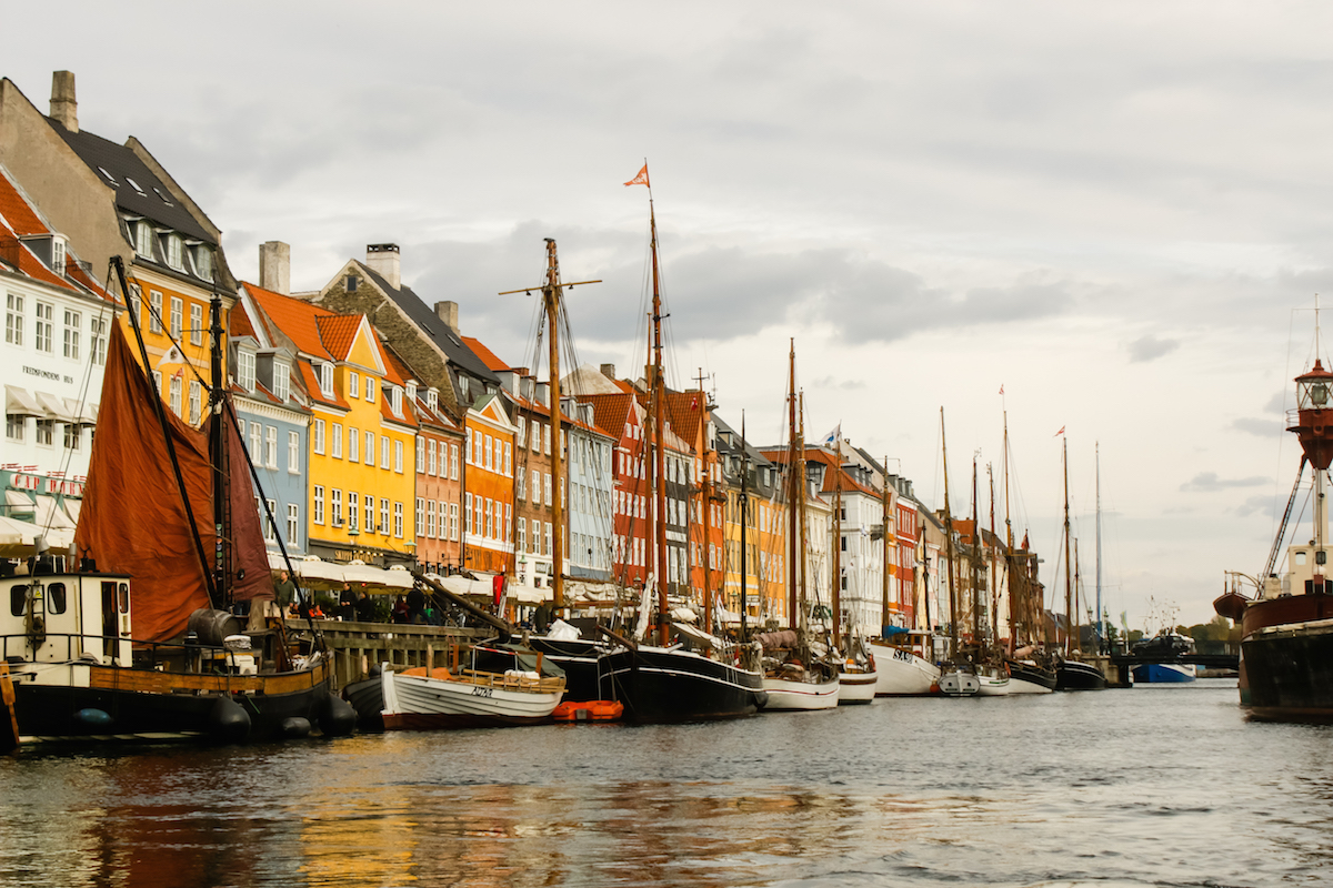 Nyhavn from the Canal, Copenhagen Denmark