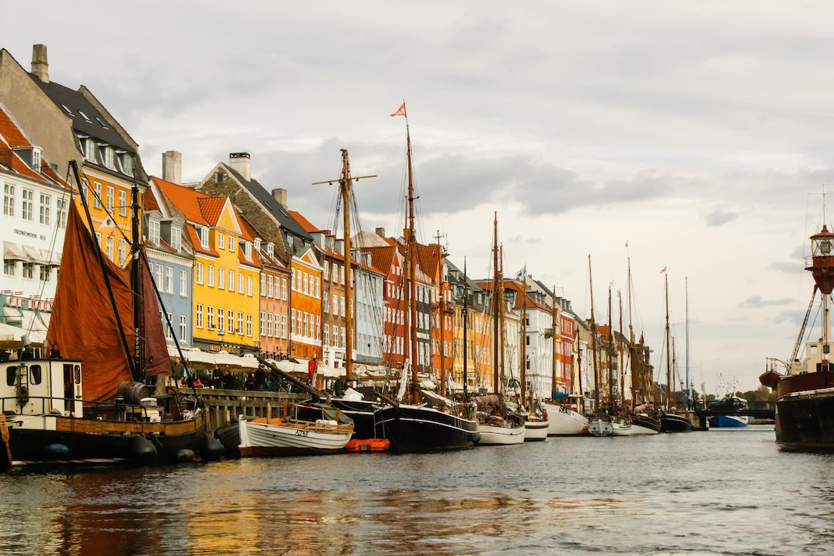 Nyhavn from the Canal, Copenhagen Denmark