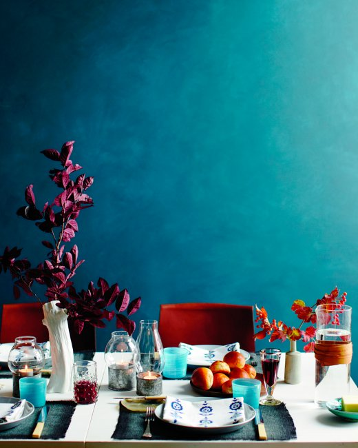 Jewel Toned Thanksgiving Table
