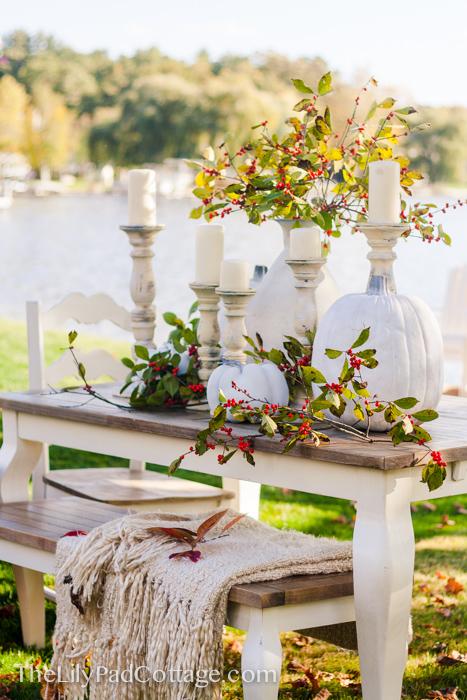 White Pumpkin Thanksgiving Table