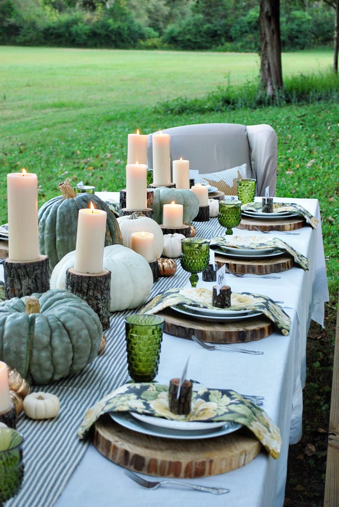 Wood Slab Thanksgiving Table