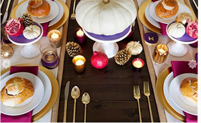 Bright Thanksgiving Table Setting
