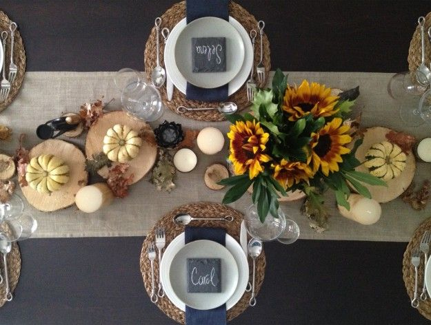 Slate Coaster Table Settings