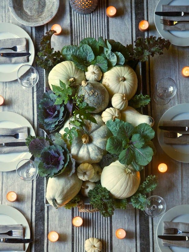 Beautiful Green Thanksgiving Centerpiece