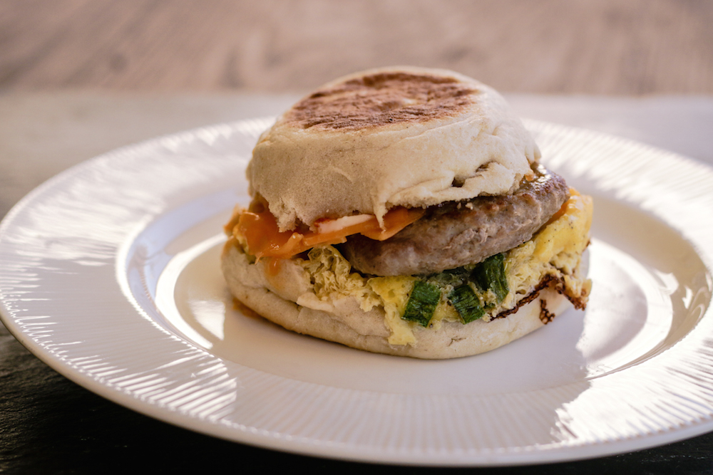 Freezer Sriracha Breakfast Sandwich Recipe