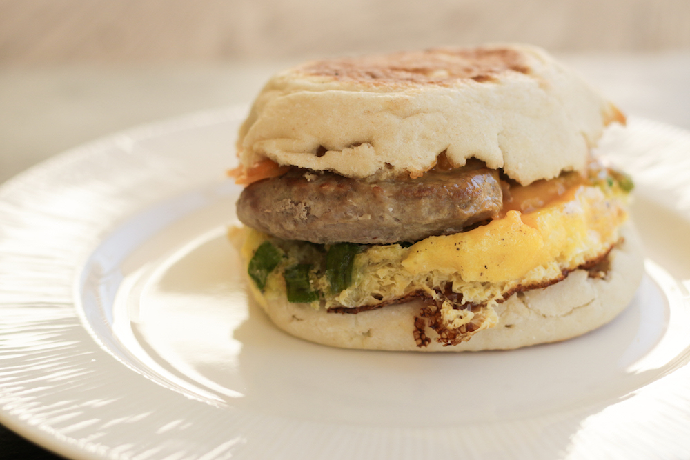 Freezer Sriracha Breakfast Sandwich Recipe