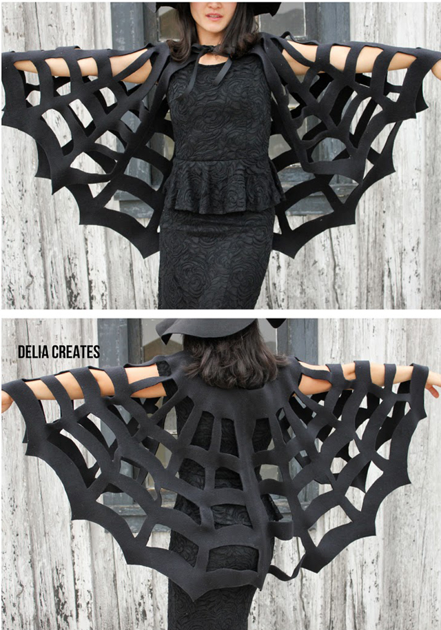 DIY no sew spider cape