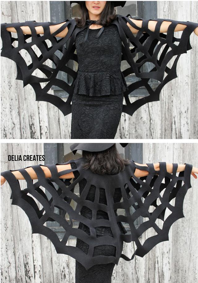 diy no sew spider cape