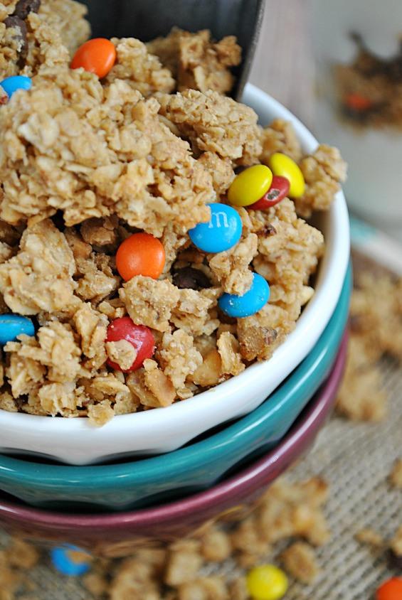 Leftover Halloween Candy Granola Recipe