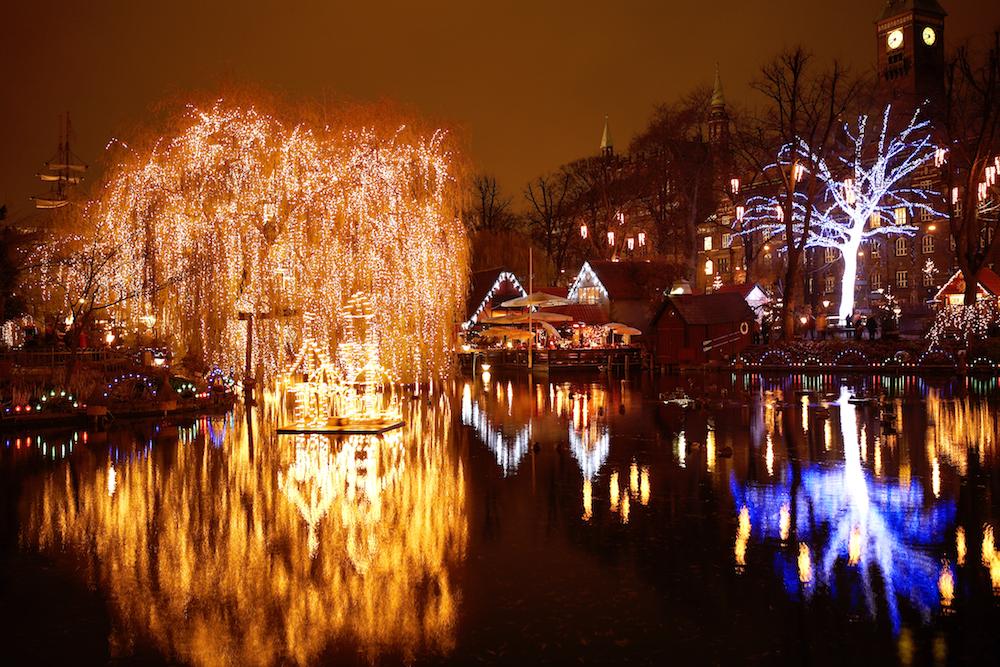 Tivoli Gardens Lights Copenhagen Denmark