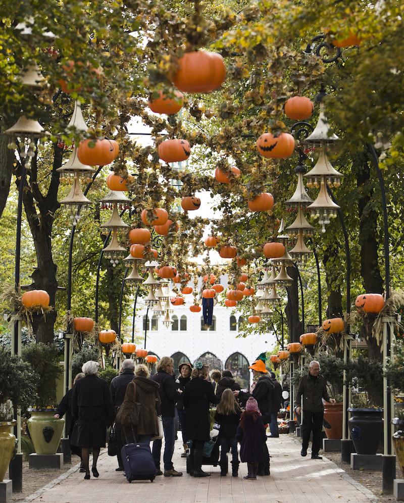 Halloween in Tivoli Gardens Copenhagen, Denmark