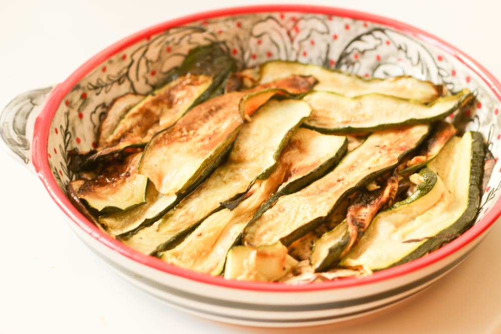 Roasted Vegetable Pie Recipe- Layer 2 Zucchini