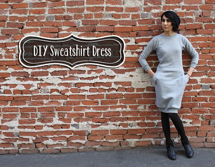 DIY Sweatshirt Dress Tutorial