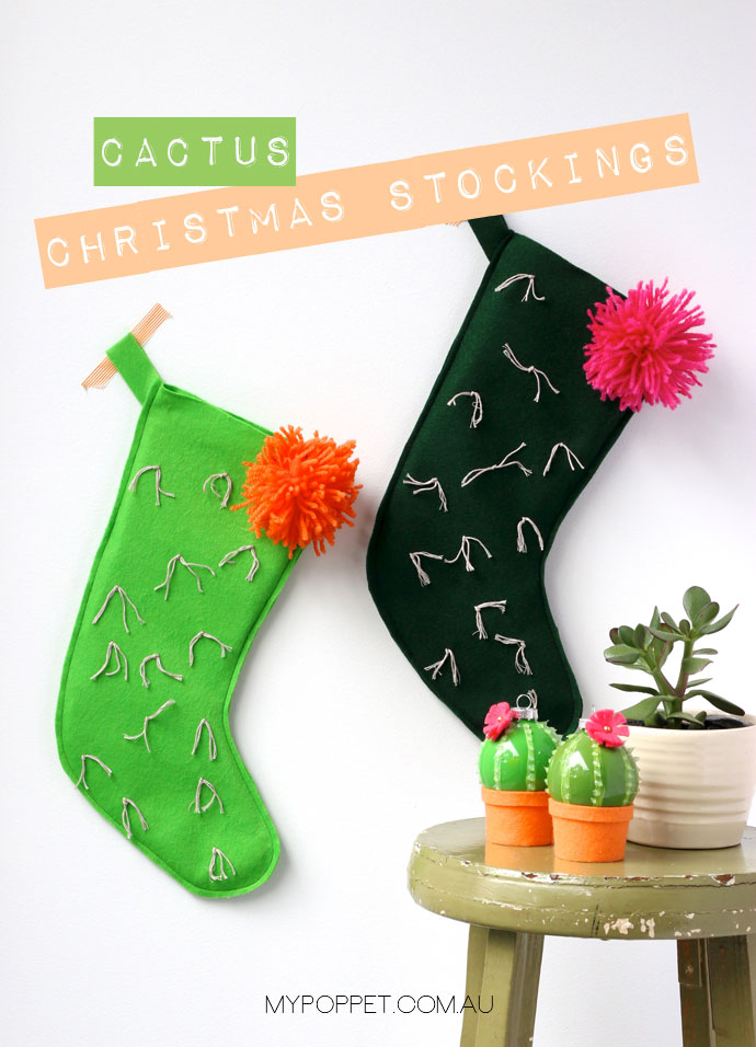 cactus-stocking DIY christmas stocking patterns