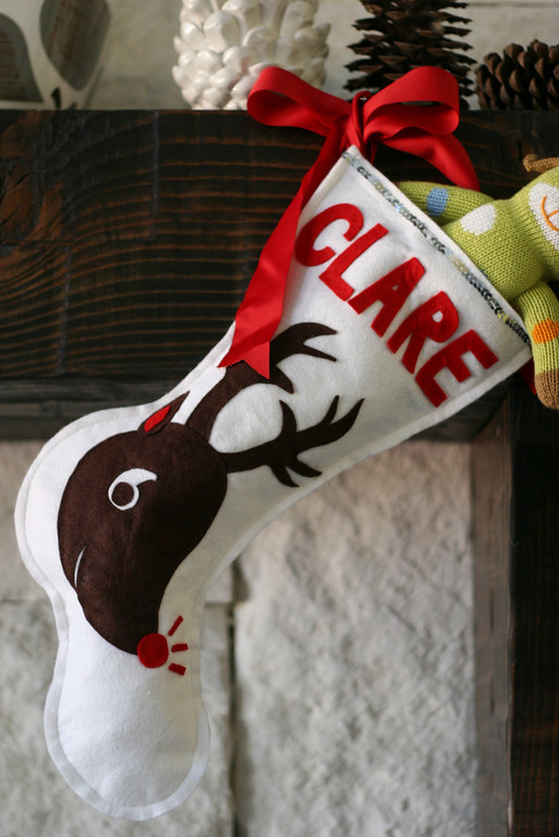 easy felt christmas stocking project