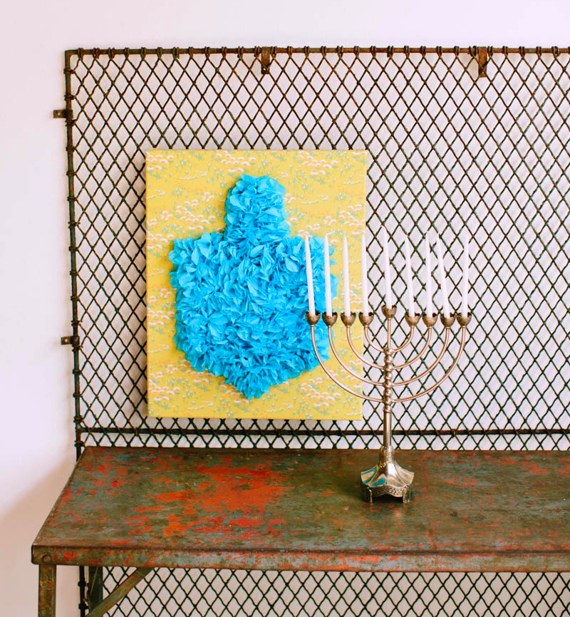 Hanukkah Wall Art Tissue Paper DIY