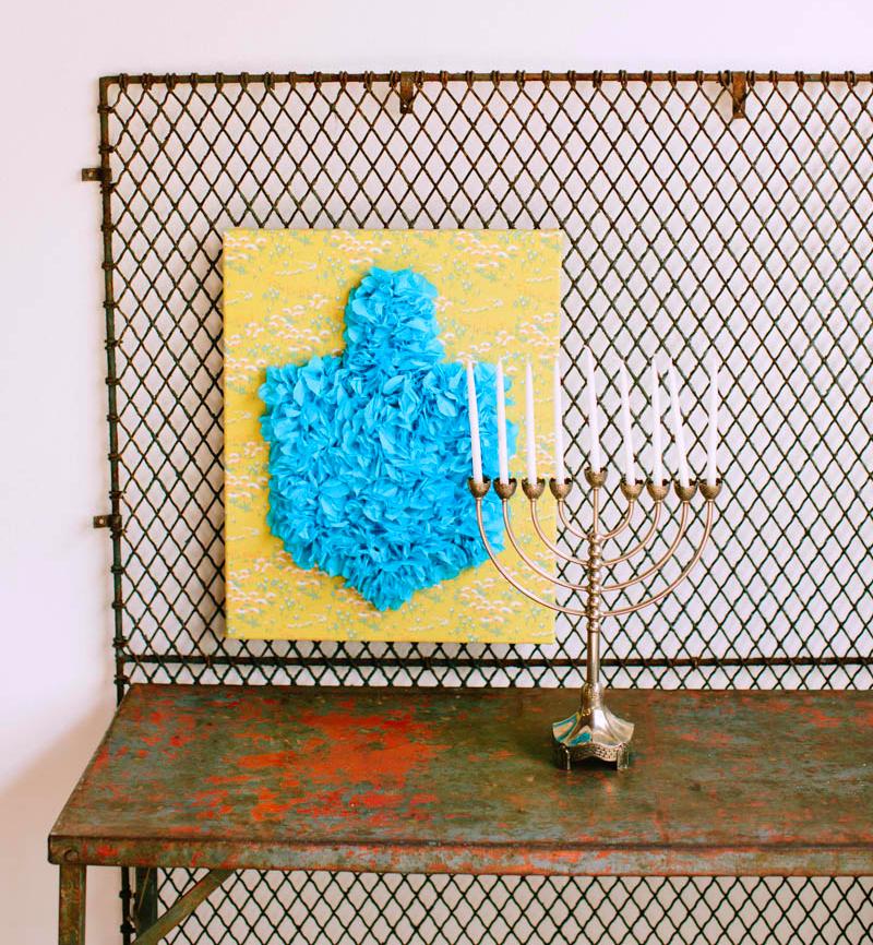 Hanukkah Wall Art Tissue Paper DIY