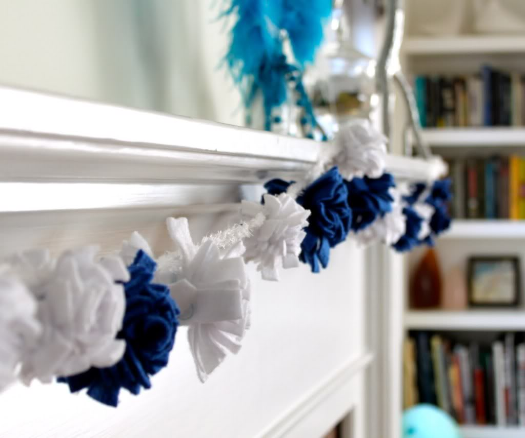 Hanukkah DIY Fleece Pom Pom Garland