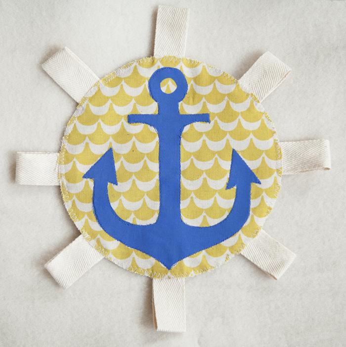 DIY Crinkle Tag Toy for Hanukkah