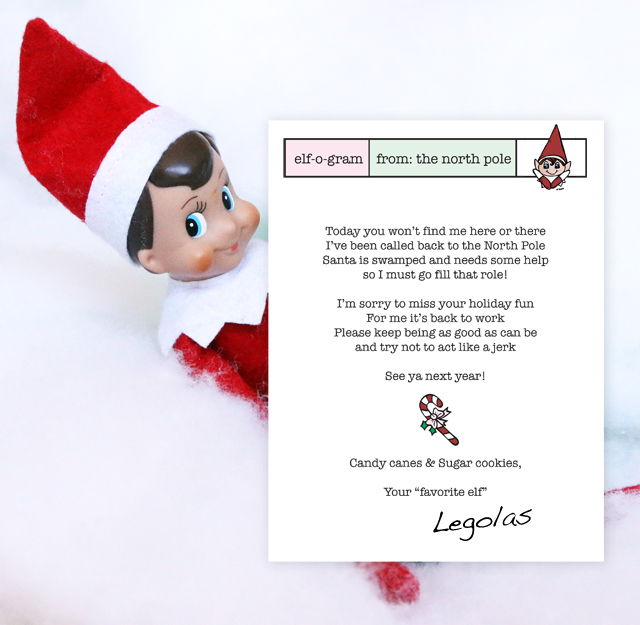 Elf on the Shelf A Goodbye Poem Pretty Prudent